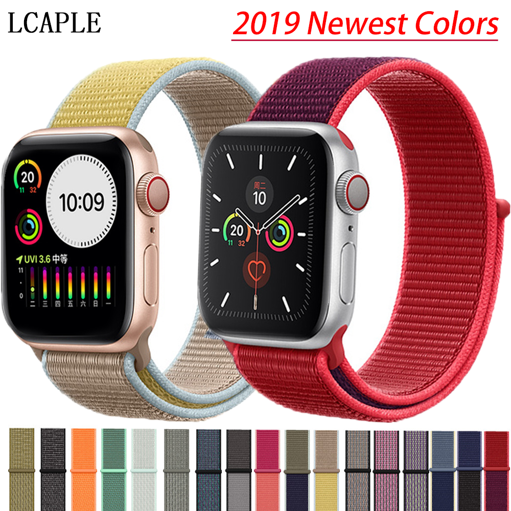Nylon Strap For Apple Watch Band Apple Watch 5 4 3 2 Band 44mm/40mm Sport Loop Iwatch Band 5 42mm 38mm Correa Pulseira Watchband