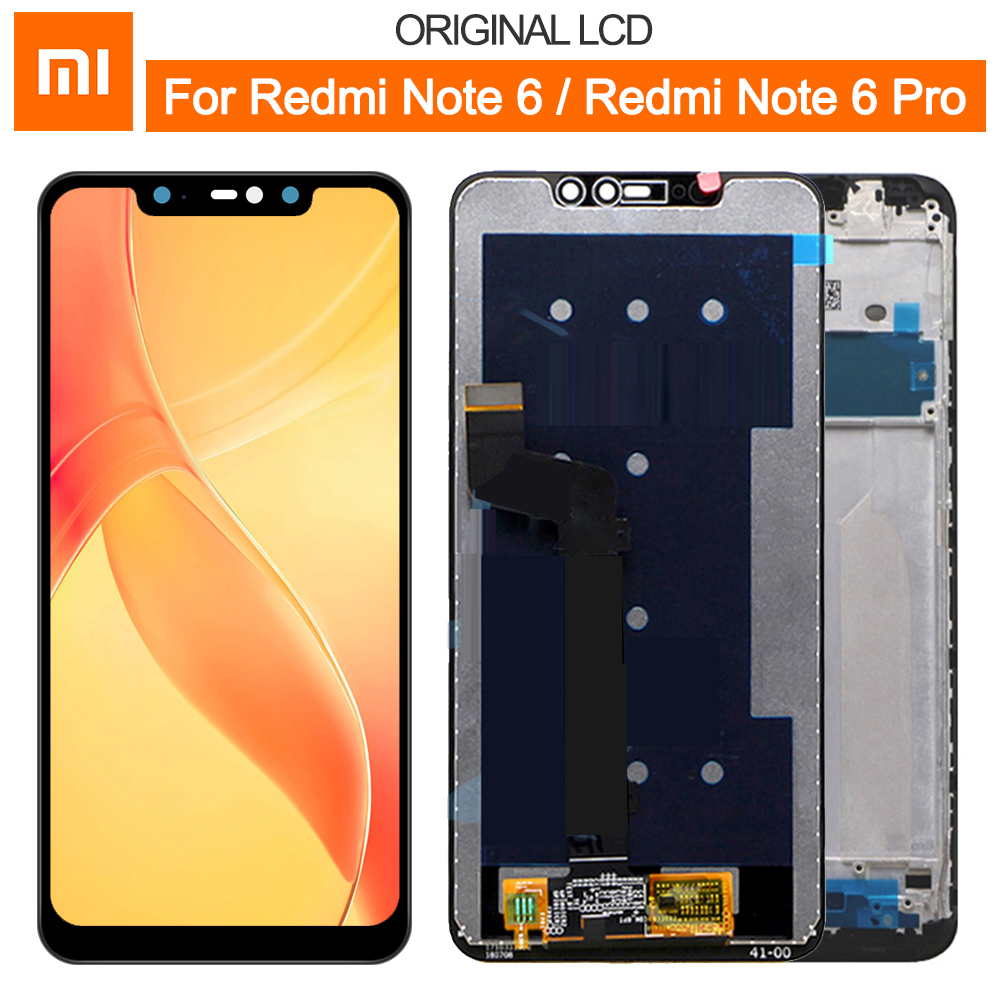 Original For 6.26 Xiaomi Redmi Note 6 Note 6 Pro LCD Display Note6 Note6 Pro Screen + Touch Screen Panel Digitizer Replacement