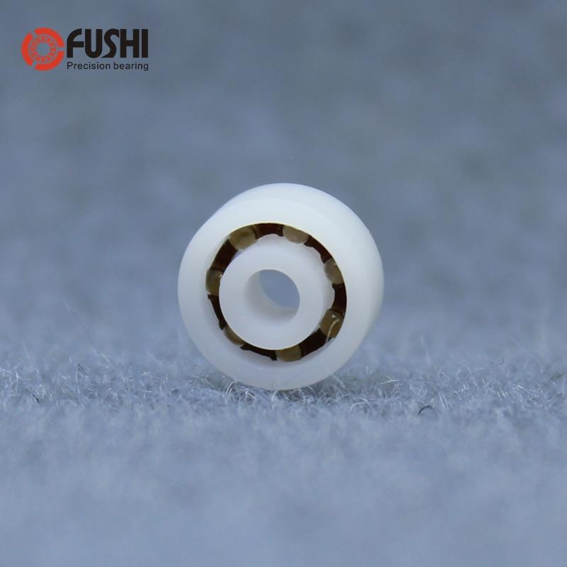 Glass Balls Nylon Cage Plastic Ball Bearings POM 628 Bearing 8*24*8 mm 5 PCS