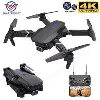 E525 Pro Drone 4k HD szerokokątny podwójny aparat 1080P WIFI wizualne pozycjonowanie wysokość utrzymać Rc Drone podążaj za mną Quadcopter drony zabawki