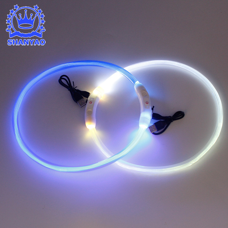 Charging Pet Luminous Collar USB Small, Medium And Large LED Dog Neck Ring Fluorescent Ye Quatrend