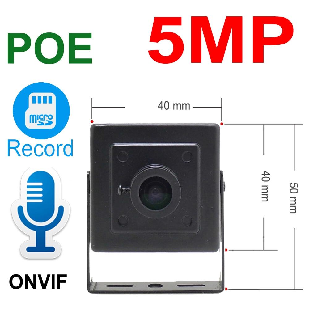 5MP Audio Mini POE Camera IP Cam High Definition Cctv Security Surveillance Support Micro SD Slot Onvif HD POE Home Camera IPC