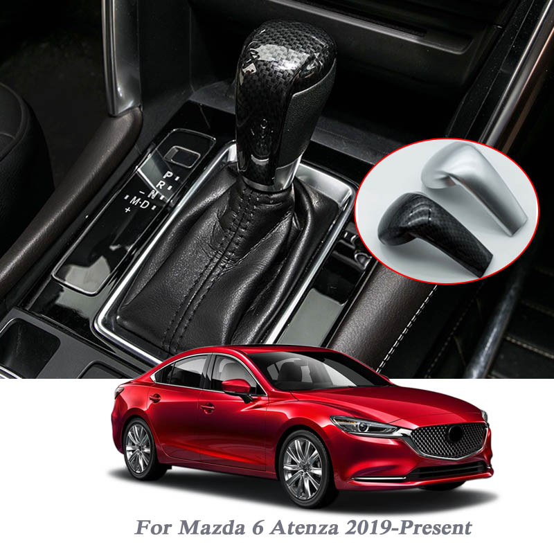 Car Handbrake Covers Sleeve ABS Cover Anti-slip Parking Hand Brake Grips Sleeve For Mazda 6 Atenza 2019-Present Auto Accessories