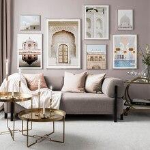 Allah Hồi Giáo Nghệ Thuật Treo Tường Vải Bố Poster Maroc Cửa Hồi Giáo Xây Dựng In Bắc Âu Trang Trí Hình Tranh Hiện Đại Thánh Đường Hồi Giáo Trang Trí