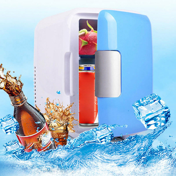 led portable cooler warmer usb fridge refrigerator mini beverage drink cans cooler power for office laptop pc usb gadgets 4L Portable Single Door Heating Refrigerators Fridge Freezer Cooler Warmer Cooling Car Home Office Desktop Small Refrigerator