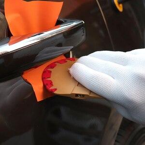 Image 3 - FOSHIO manyetik çekçek araba Sticker vinil Wrap mikrofiber keçe kazıyıcı pencere tonu aracı mıknatıs karbon fiber film aplikatör