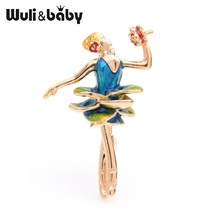 Wuli&baby Blue Dress Girl Brooches For Women Alloy Rose Lady Wedding Brooch Pins Gifts