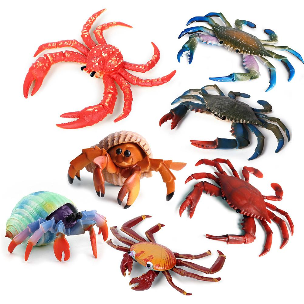 High Simulation Sea Life Animals Hermit Crab Marine Animal PVC Model Figures Desktop Decor Education Kids Toy Gifts For Kid