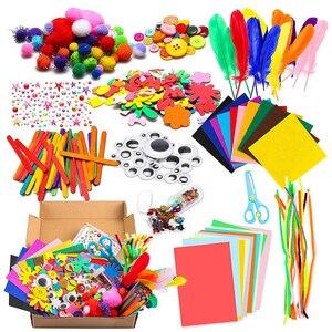 Plush Stick / Pompoms Rainbow Colors Shilly-Stick Educational DIY Toys Handmade Art Crafts Creativity Devoloping Toys GYH