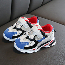 Children Fashion Breathable Anti-Slip Sneakers Toddler Kids Soft Soled Casual Sp