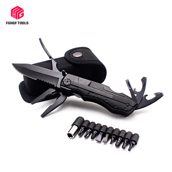 Outdoor Survival Multitool Folding Knife Plier Set Pocket Camping Hunting Screwdriver Kit Bits Bottle Opener Tactical Hand Tool 1