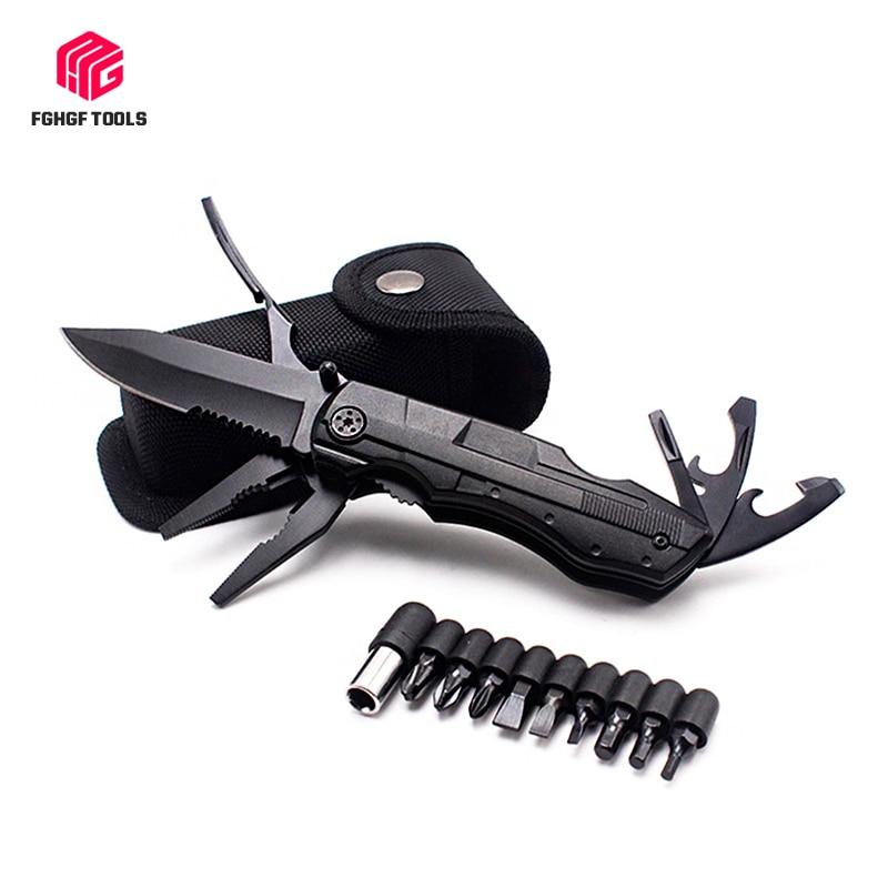 Outdoor Survival Multitool Folding Knife Plier Set Pocket Camping Hunting Screwdriver Kit Bits Bottle Opener Tactical Hand Tool(China)
