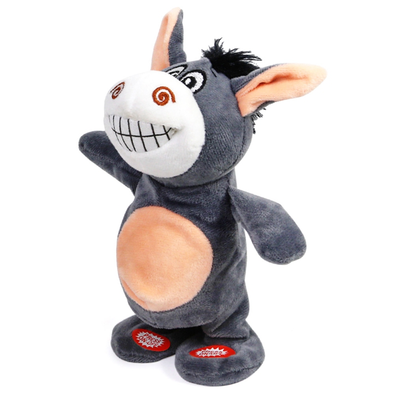 Electronic Talking Donkey Cows Plush Toy Cute Speak Music And Walk Dolls Pets Plush Toys Electric Talking Walk Animals