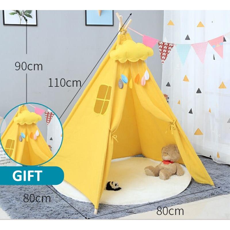 Children's Tent Princess Tipi Indoor Play House Indian Tent Toy House Folding Tent Indian Teepee Baby Tent