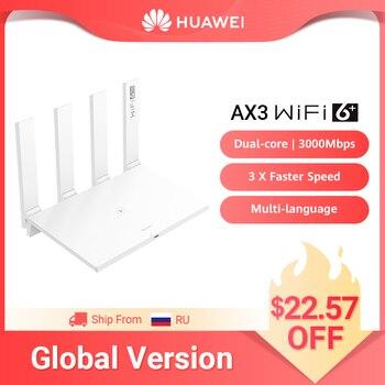 Global Version HUAWEI WiFi 6+ AX3 Dual Core Wireless Router 3000M 5GHz Repeater Amplifier WiFi6 Multi-Language Mesh WiFi 1