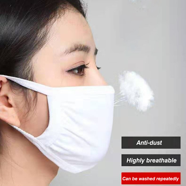 Proof Windproof Cotton Mouth Mask Breathable Washable Men Women Mask Face Cover Unisex