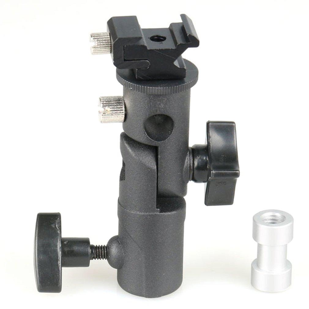 E Type Metal Flash Bracket Universal Hot Shoe Speedlite Umbrella Holder With 1/4
