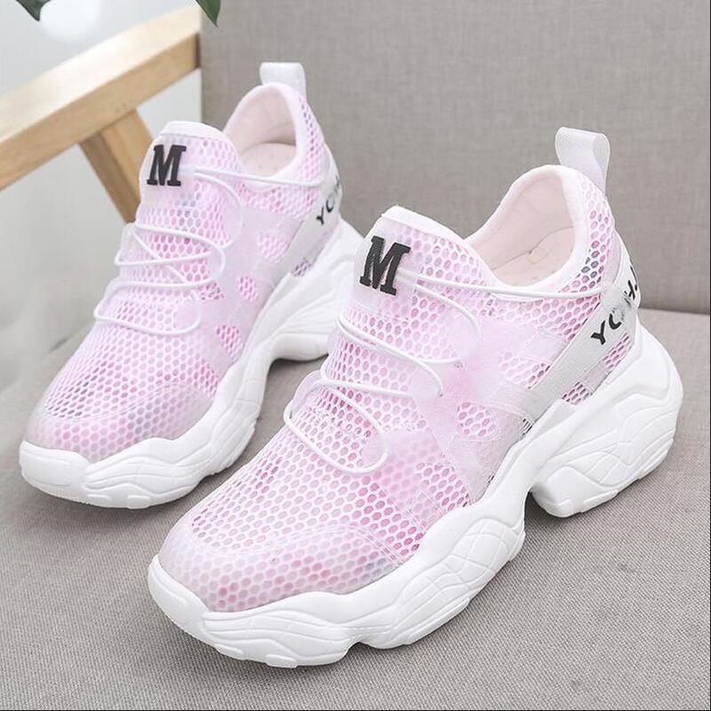 Летние zapatillas mujer Новая мода размера плюс; на каблуке средней высоты с круглым резиновые Для женщин обувь Высокое качество с рифленой