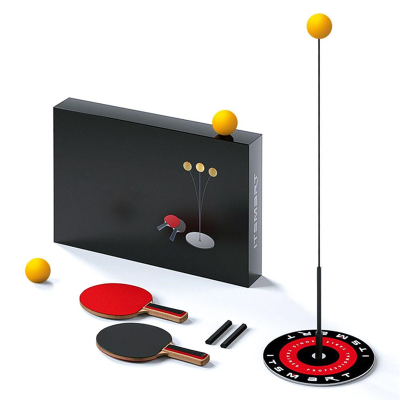 Kids Toys Table Tennis Trainer Elastic Soft Shaft Indoor Outdoor Sport Exercise Ping Pong Ball Parent Child Game Children Gifts