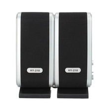 Mini Portable USB 2.0 HY 218 Laptop Computer Speakers for Desktop PC Notebook Headphone Microphone Accessories 1Pair