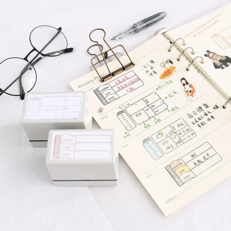 1 шт. расписание здоровья живой ужин шаблон деревянный резиновый штамп для детей DIY альбом для рукоделия