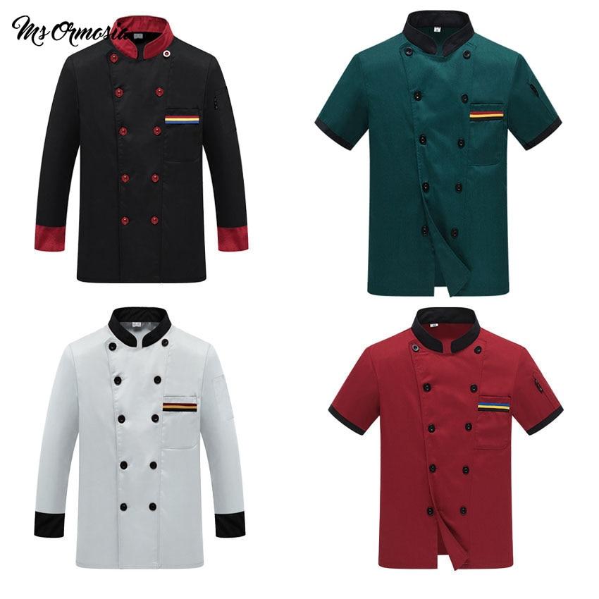 Chef Uniform Costume Breathable Food Service Top Free Logo Printing Short&full Sleeve Restaurant Kitchen Man Shirt Clothing