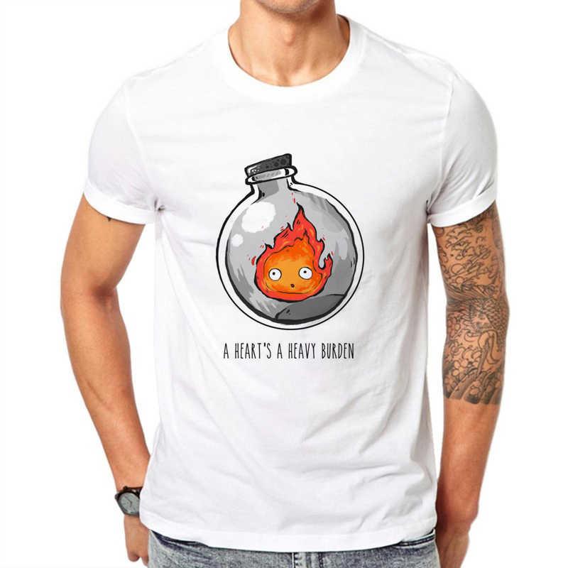 Degli Uomini di Design Divertenti Tshirt Un Cuore di Un Pesante Fardello Della Stampa di Cotone Bianco T-Shirt per Uomo Manica Corta Casual Maschio magliette E Camicette Abbigliamento