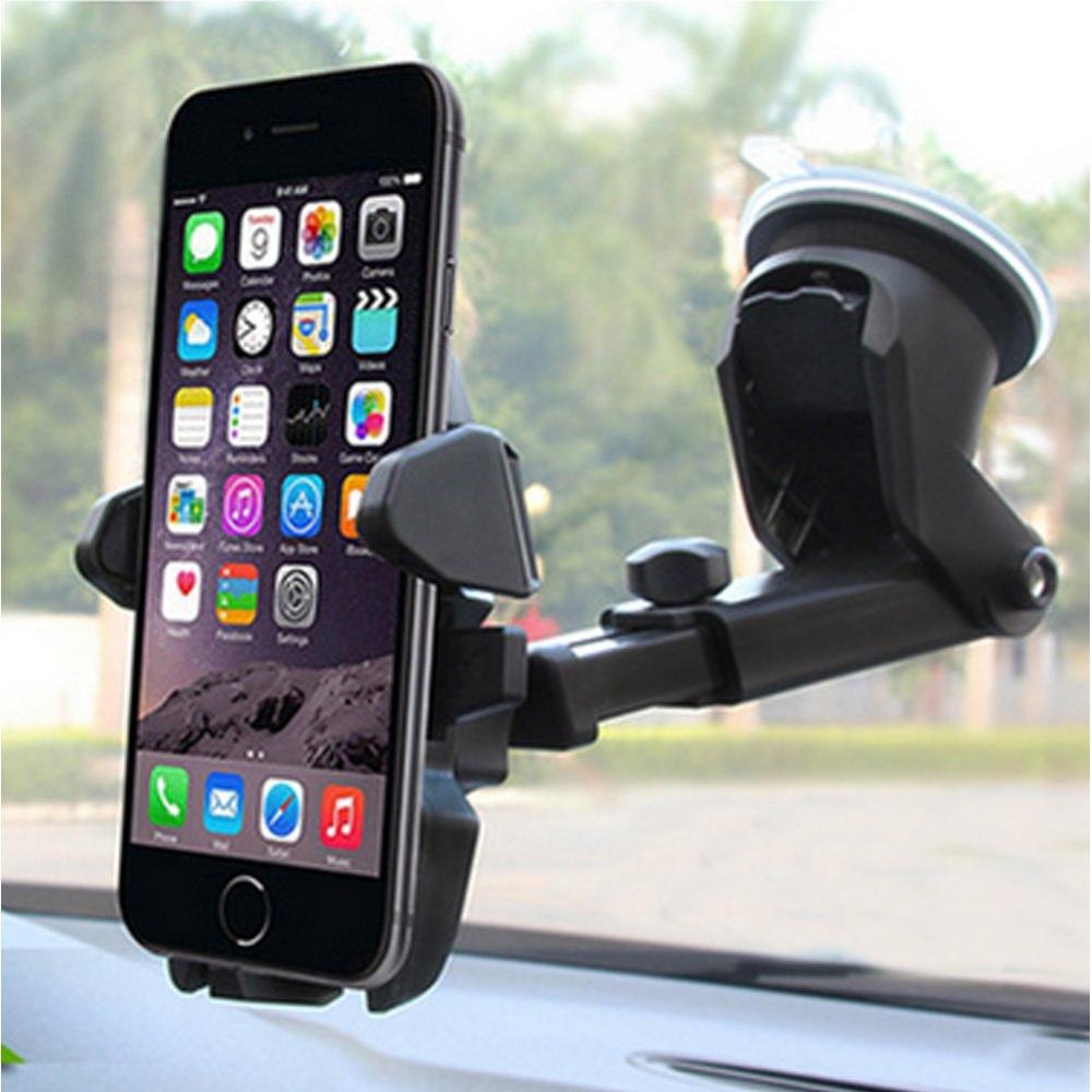 Phone Holder For Car, MANORDS Universal Long Neck Quick-hug Car Mount Holder Compatible IPhone Xs XS Max XR X 8 8 Plus 7 7 Plus