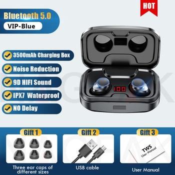 TWS Bluetooth 5.0 Earphones 3500mAh Charging Box Wireless Headphone 9D Stereo Sports Waterproof Earbuds Headsets With Microphone 10