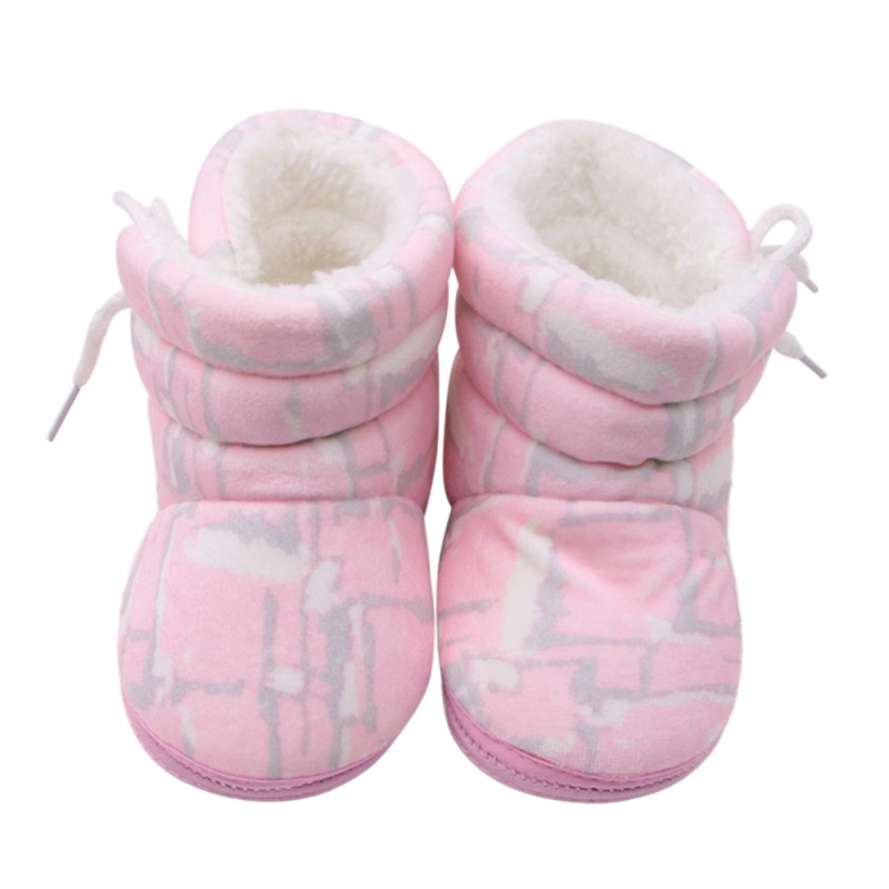 Baby Shoes Boots Booties Girl Floral Print Winter Soft Infant Boy Warm Shoe 0-12M Lovely Newborn Gifts