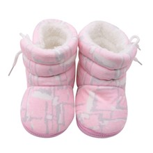 Baby Shoes Boots Booties Girl Floral Print Winter Soft Infant Boy Warm Shoe 0-12M Lovely