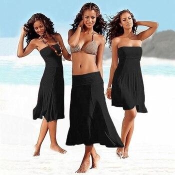 1pc Favorite By Worldwide Women Multi Wears Beach Cover Up Dress Matches Bikini Convertible Infinite Sexy Women Beach Wear  06# фото