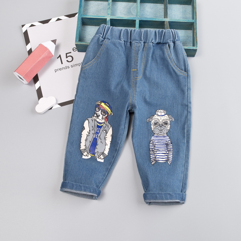 DIIMUU 1PC Infant Kids Boy Clothes Jeans Trousers Children Baby Boys Clothing Casual Bottom Denim Cotton Light Washed Pants 3