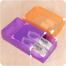 Multi-function Colorful Transparent Shoe Box Plastic Storage Candy Color Drawer Type Shoebox Unisex