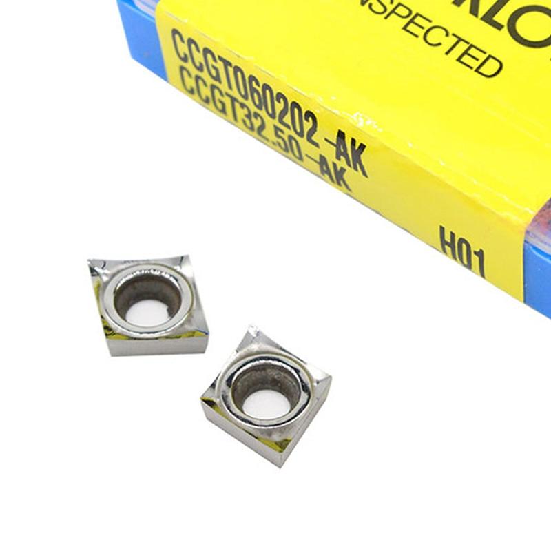 CCGT060204 H01 CCGT09T302 09T304 09T308 -AK CCGT120402-AK H01 CCGT 120404 120408 100% оригинальная вставка CNC Карбидное алюминиевое лезвие