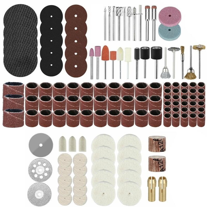 217Pcs Rotary Drill Tool Accessories Bit Set Polishing Kit for Dremel Grinding
