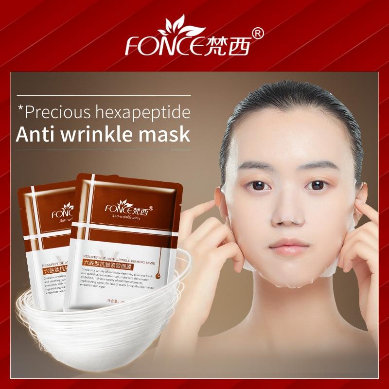 Koreanische gesicht Maske Anti Falten Anti Aging Hellt Haut Sechs peptide Anlage mascarilla gesichts Behandlung Maske 10 stück Hautpflege