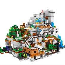2688 шт. legoinglys 21137 Топ классный весело в горной пещере мой миров для детей наборы для моделирования блоки bircks игрушки для детей