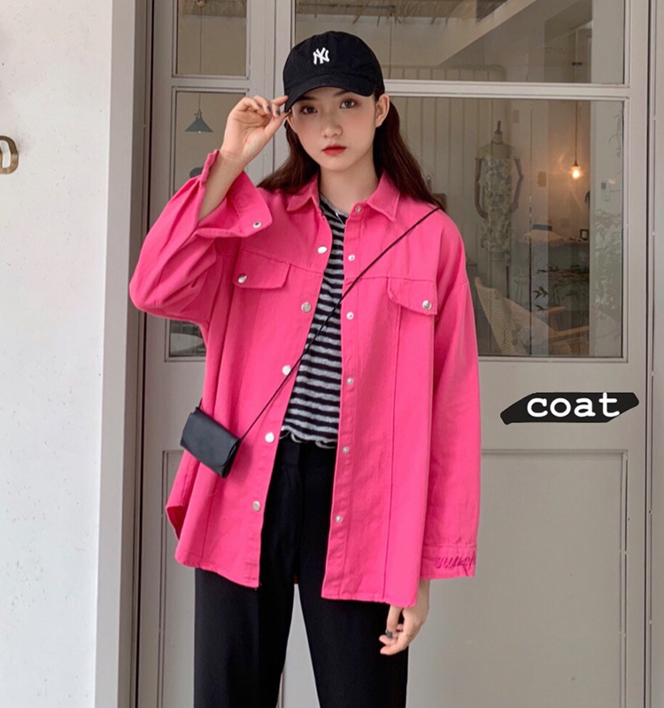 Fashion Spring Jacket Women 2019 New Arrival Red Rose Single Breasted Long Sleeve Jackets Coat Ladies Casual Office Streetwear in Jackets from Women 39 s Clothing