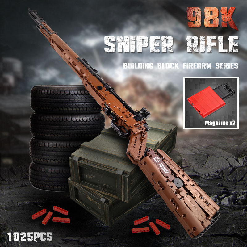 MOULD KING Compatible With 14002 PUBGS Mausers 98K Sniper Rifle Model