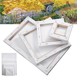 1pc Small Art Board White Blank Square Artist Canvas Solid Wooden Board Frame Primed For Oil Acrylic Paint Crafts Home Deco