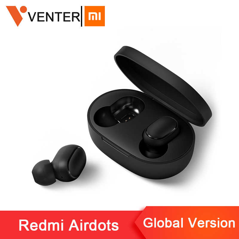 Saham Asli Xiaomi Redmi Airdots Tws Wireless Bluetooth Earphone Stereo Bass Bluetooth 5.0 dengan MIC Handsfree Ai Control