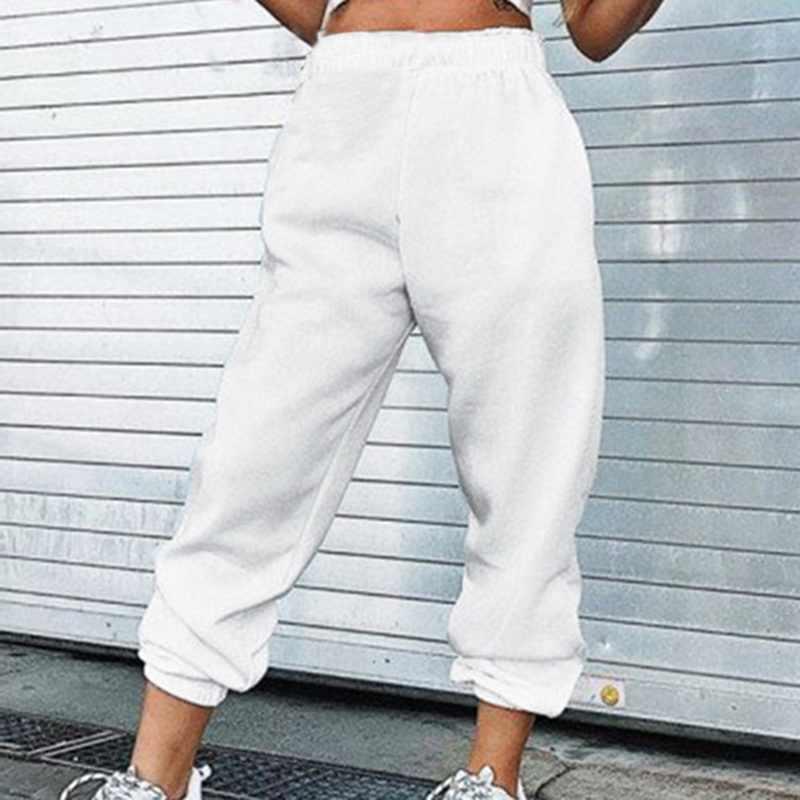 原宿ジョギングスポーツスウェットパンツ女性プラスのサイズハイウエストのズボンストリート韓国カジュアル貨物パンツはファム pantalones