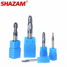 Milling Cutter Hrc50 Ball Nose Alloy Tungsten Steel Tools Cnc Maching SHAZAM Wholesale Top Machine Cutters For Steel Woodworking cheap Ball Nose End Mills Regular Length R0 5-R10 altın Carbide NC machining CNC machining Engraving machine high speed machine