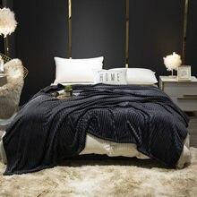 Bonenjoy cobertor sobre a cama cor preta flanela macio thow cobertores único/rainha/king size xadrez para camas velo cobertor