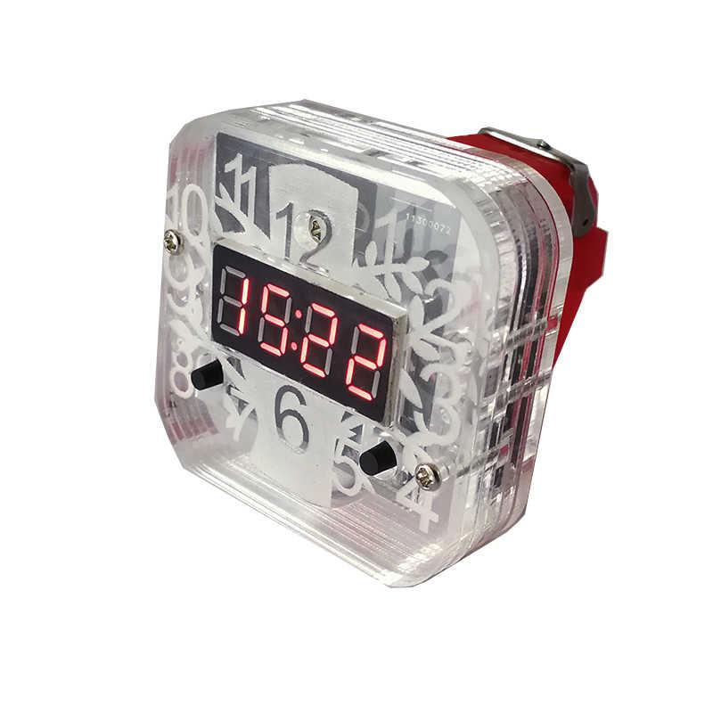 Zestaw modeli do składania kreatywny elektroniczny zegarek diy zestaw 51 pojedynczy układ scalony mikrokomputer cyfrowa rurka led zegarek praktyki szkolenia produkcji