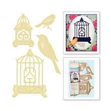 Naifumodo 4 Pcs/lot Metal Cutting Dies Scrapbooking For Card Making DIY Embossing Cuts New Craft Bird And Cage Elements