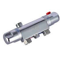 Ванной настенный для душа латунный термостат крана смесительный клапан для ванной комнаты, автоматическая с датчиком температуры воды кран