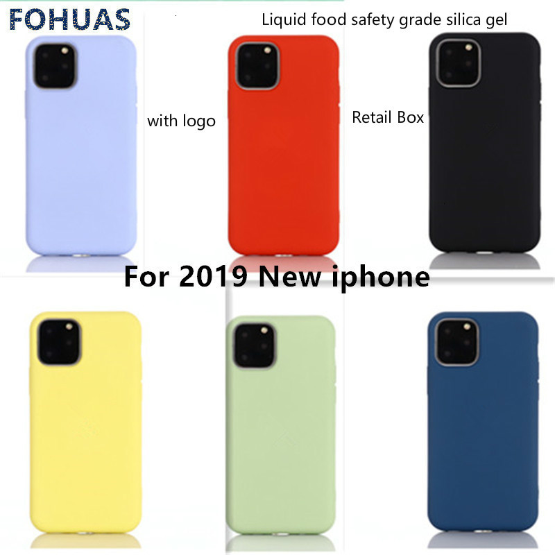 New Liquid <font><b>Silicon</b></font> <font><b>Case</b></font> For 2019 <font><b>iPhone</b></font> 11 Pro Max XR X XS for <font><b>iphone</b></font> 7 8 6 Plus Soft Candy Cover <font><b>Case</b></font> For <font><b>iPhone</b></font> 11 Pro image