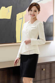 New Korean version of high-end medical cosmetic plastic reception cashier store manager professional suit cosmetologist uniform
